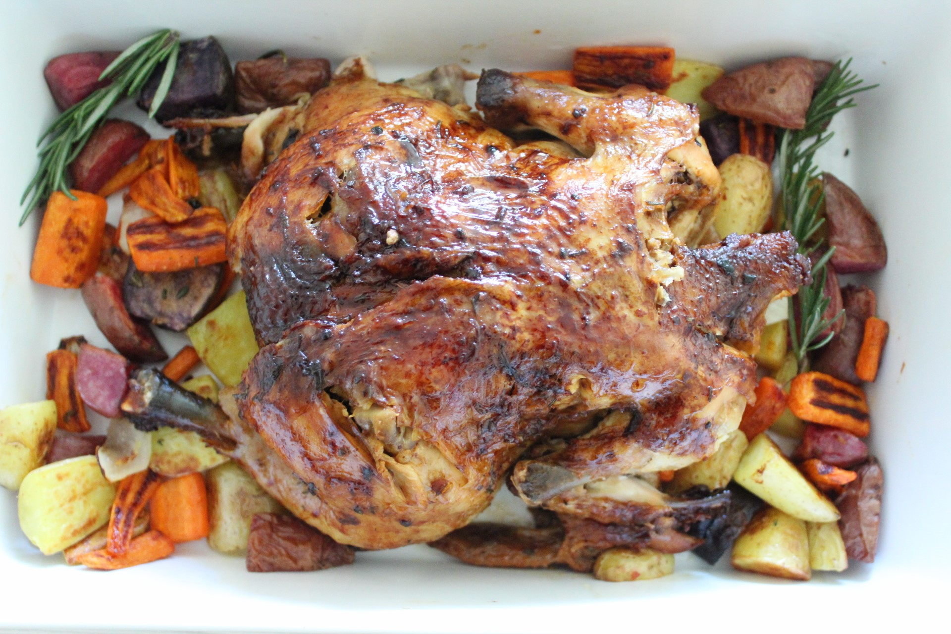 Lemon Garlic and Herb Roasted Chicken