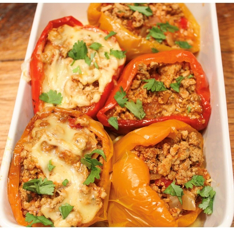 Mexican Ground Turkey Stuffed Pepper